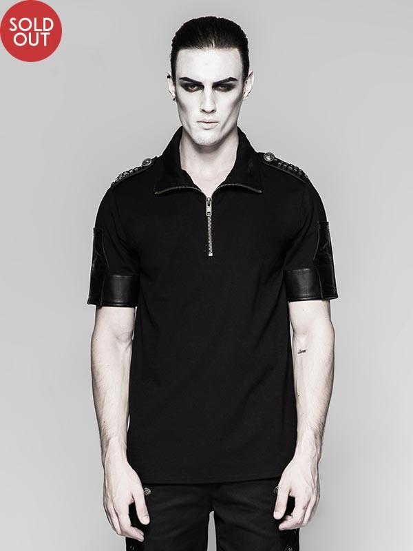 Mens Punk Military Uniform Sniper T-Shirt