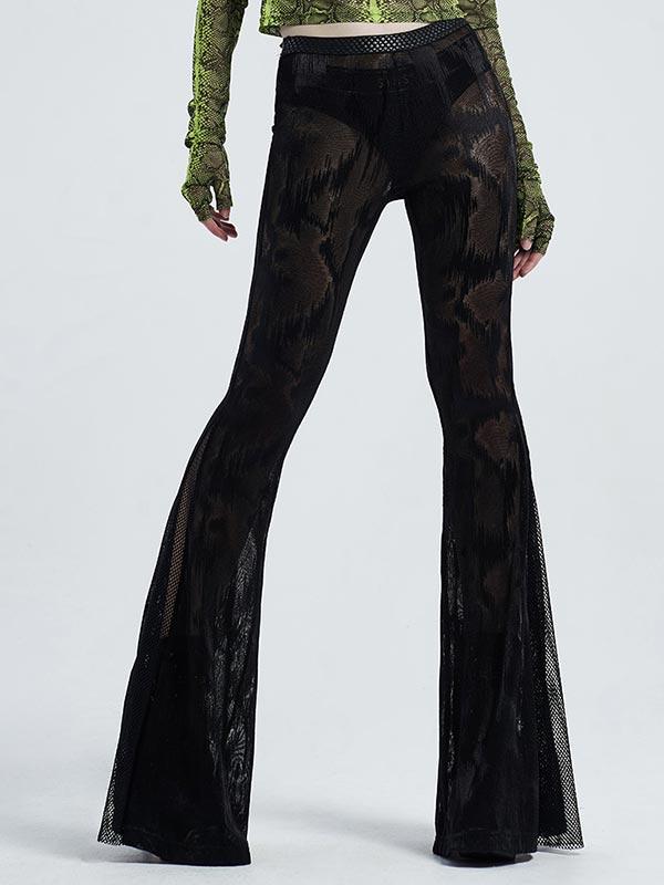 Gothic Dark Fringe Flared Pants
