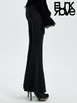 Gothic Cross Flared Pants