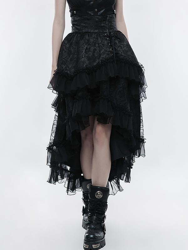 Lolita High Waist Layered Skirt