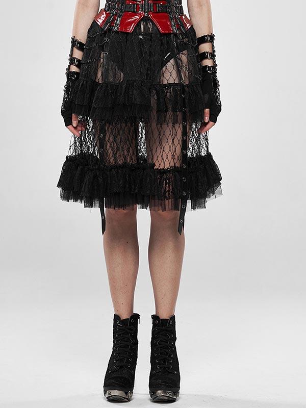 Lolita Taboo Cage Skirt - Black
