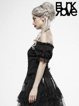 Lolita Broken Wing Black Angel Shirt