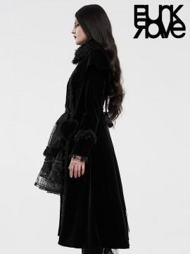 Lolita Queen Of Hearts Long Coat - Black