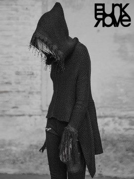 Dark Gothic High/Lo Sweater Hoodie