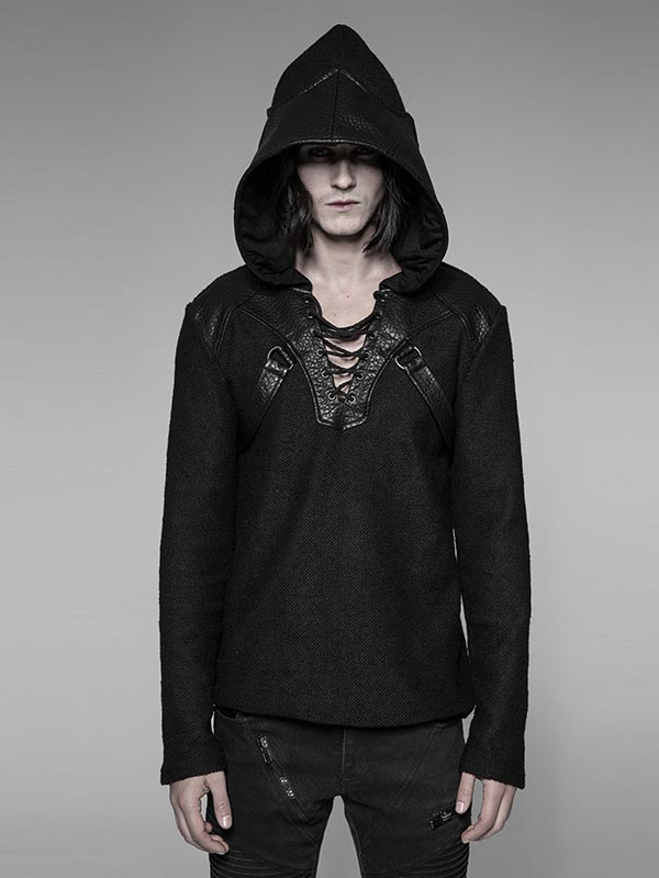 Punk Dragon Wing Pullover Hoodie
