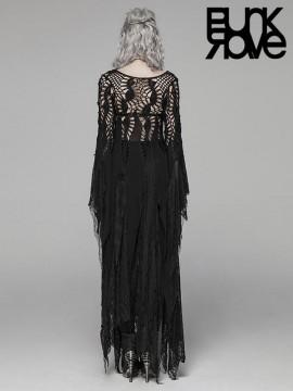Gothic Spiderweb Long Dress