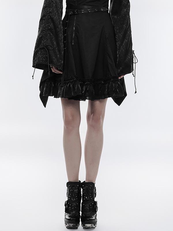 Punk High Waist Kimono Skirt