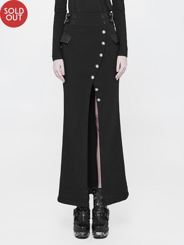 Military Inspired Long Skirt