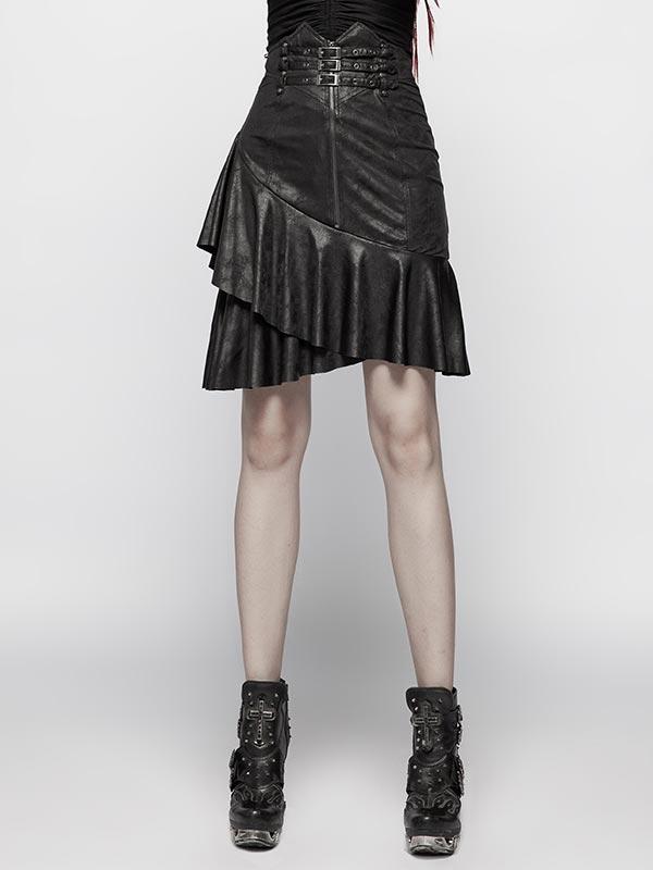 Punk High Waist Half Skirt