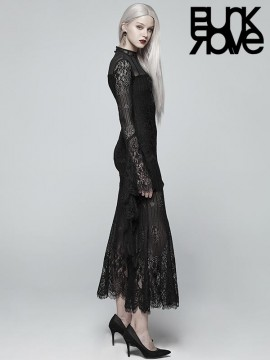 Gothic Daily Wear Lace Party Dress
