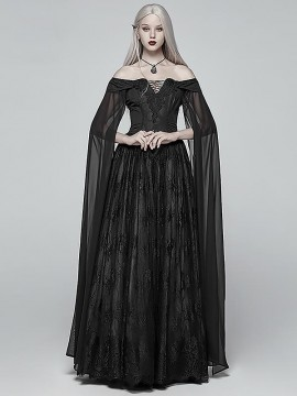 Victorian Gothic Strapless Long Dress