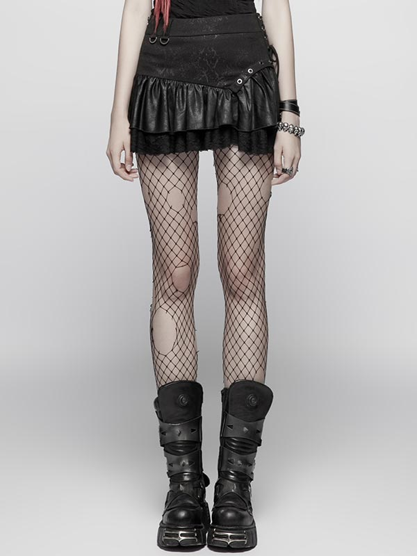 Steampunk Miniskirt - Black