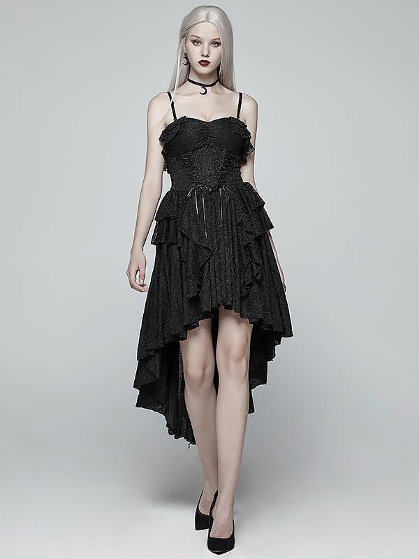 Gothic Strapless Hi/Lo Dress