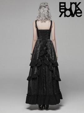 Steampunk Adjustable Leather Long Dress
