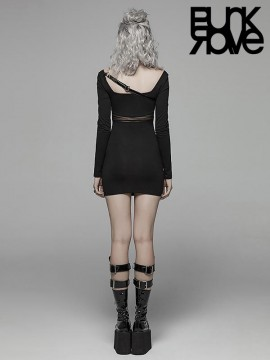 Punk PU Leather Belting BodyCon Style Dress