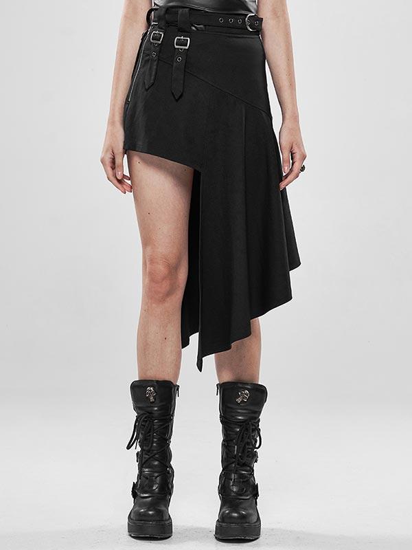 Punk Rock Irregular Skirt