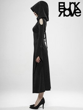 Wild Witch Gothic Dress with Hood