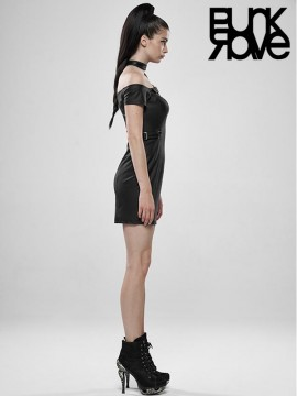 Punk Futuristic Warrior Leather Dress