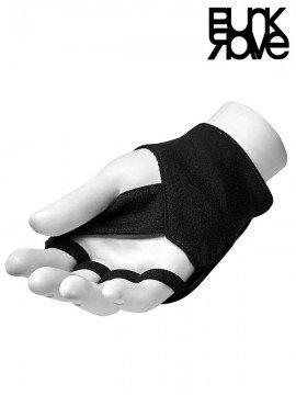 Punk Cross Finger Black Gloves