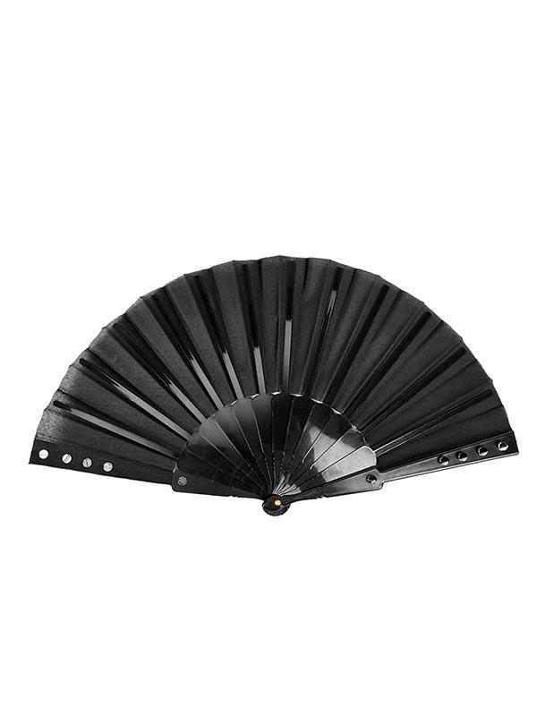 Punk Gothic Fabric Rivet Fan