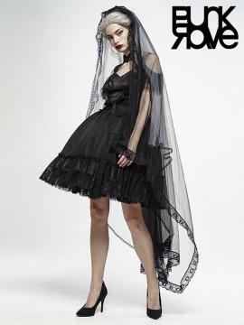 Gothic Zombie Bride Gradient Veil