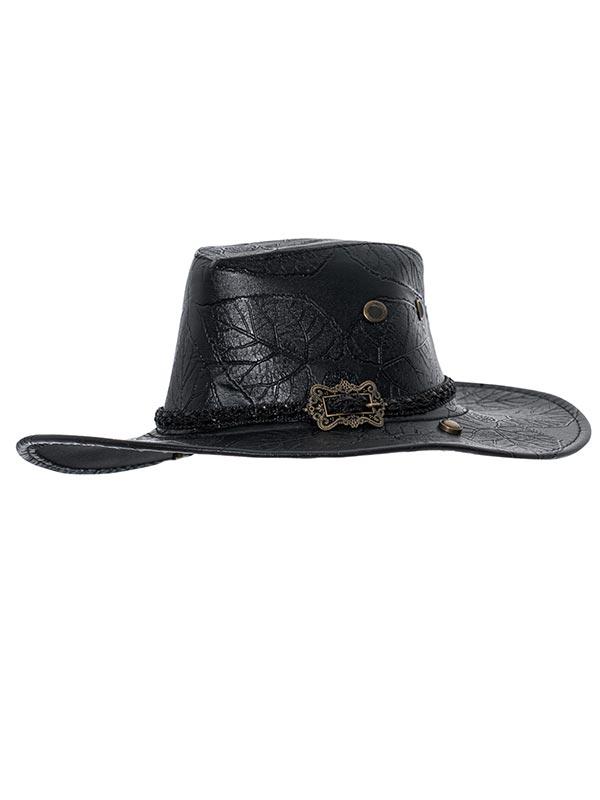 Punk Carved Cowboy Hat