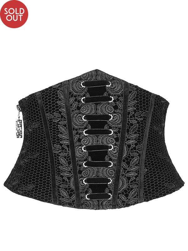 Gothic Retro Waist Corset - Black
