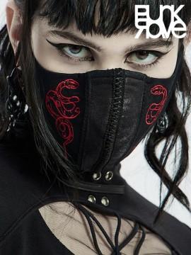 Unisex Goth Blood Snake Face Mask