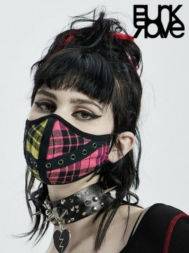 Colourful Punk Plaid Face Mask