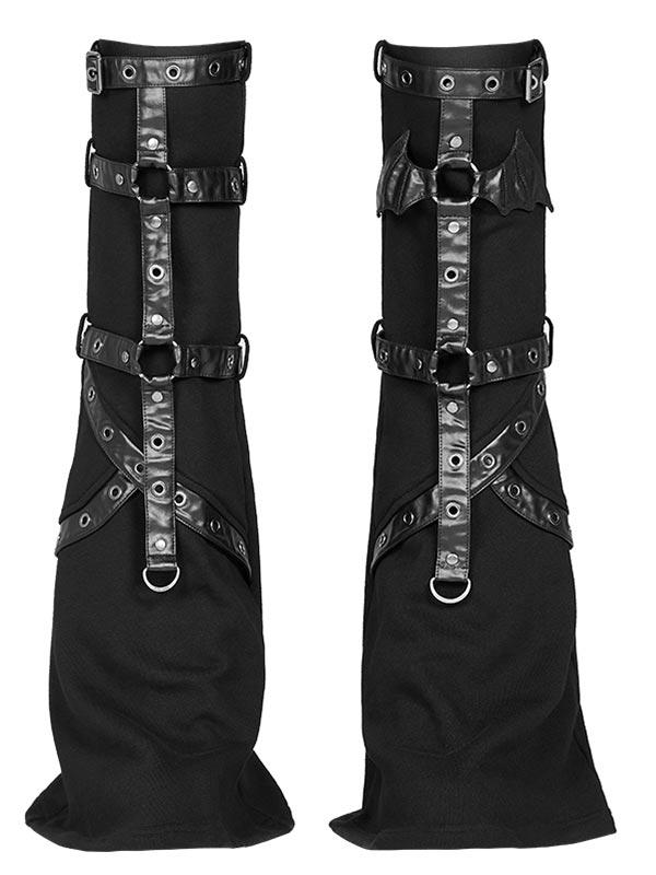 'Punk Girls' Bat Wing Flared Leg Covers - Black