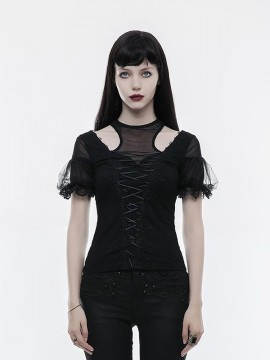 Gorgeous Gothic Short Sleeve Top