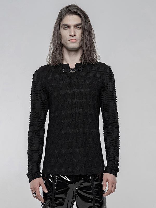 Mens Punk Dark Texture Top