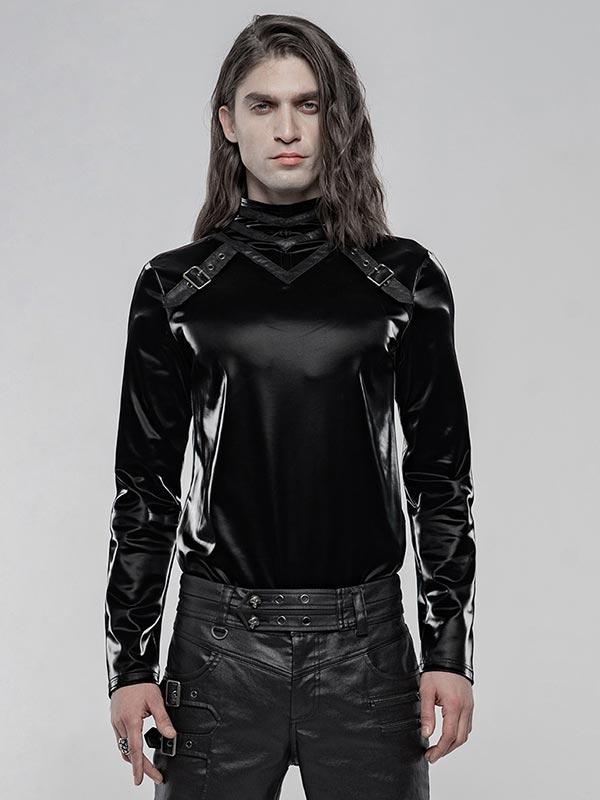Mens Gothic Imitation Shark Skin Top