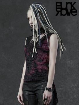Gothic Necklace Collar Top - Violet