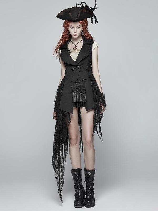 Dark Steampunk Sleeveless Jacket