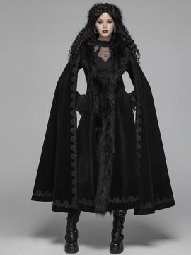 Gorgeous Gothic Vintage Cashmere Fur Long Cloak