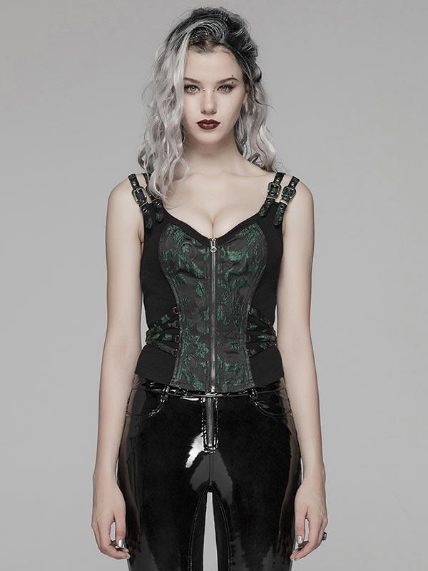 Steampunk Top - Black & Green