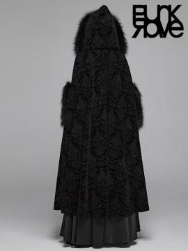 Gorgeous Gothic Fur Trim Long Cloak