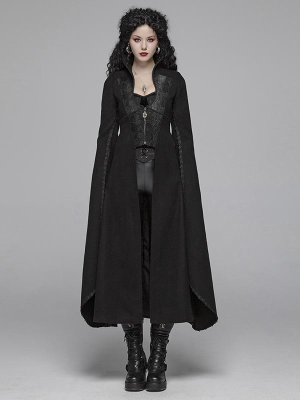 Gothic Queen Heavy Woolen Long Coat