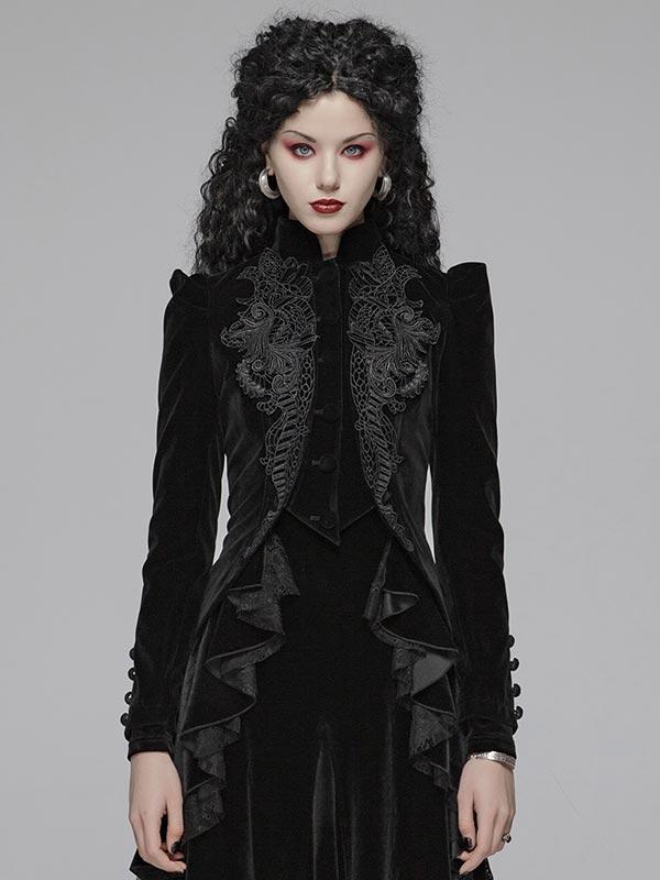 Gothic Short Velvet Coat
