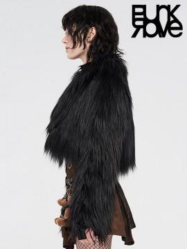 Punk Fur Coat - Black