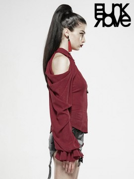 Demon Tears Two Wear Removable Sleeves Shirt - Red