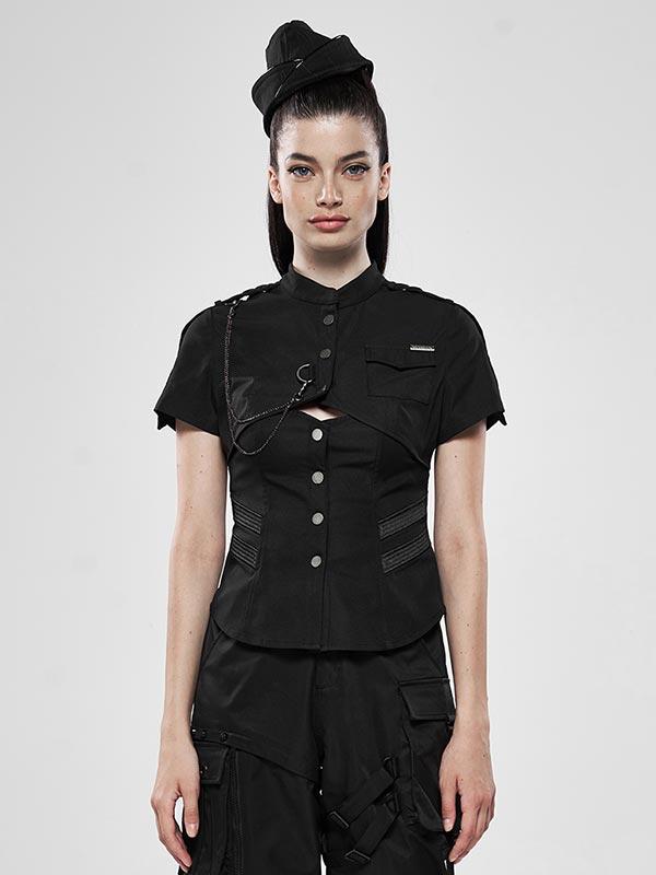 War Dominated Military Black Shirt
