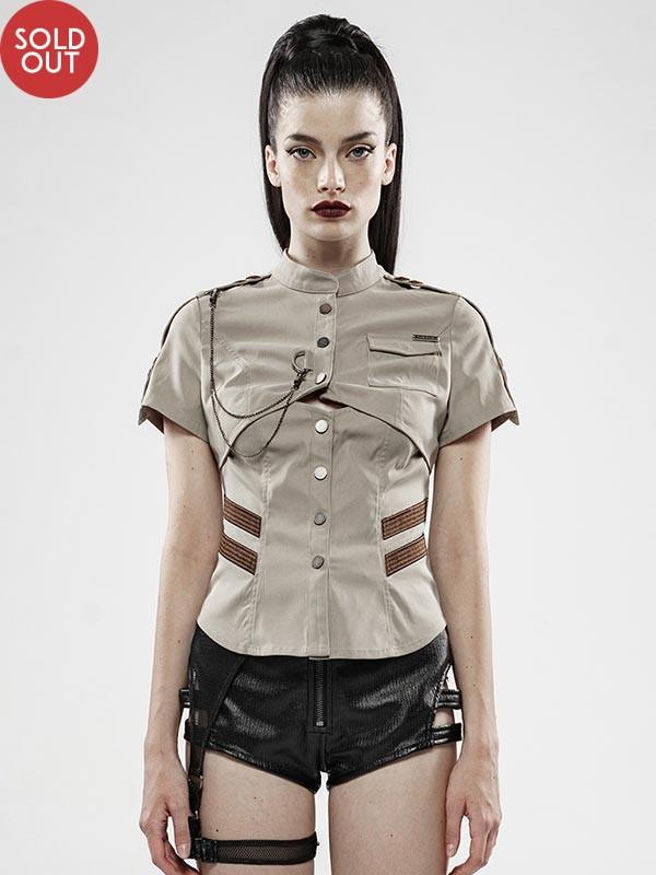 War Dominated Military Khaki Shirt