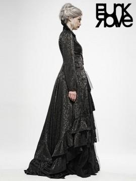 Gothic Witch Wedding Dress Long Coat