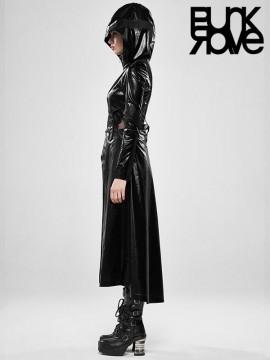 Cosmic Warrior Two-Wear Long Coat - Black