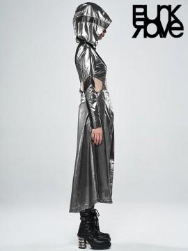 Cosmic Warrior Two-Wear Long Coat - Silver