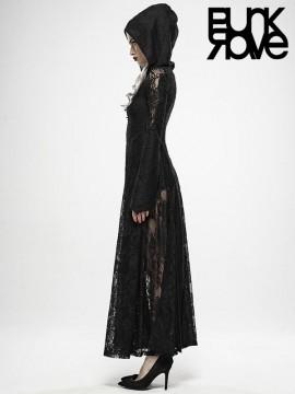 Dark Moon Cage Hooded Long Coat