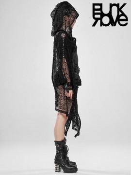 Unisex Gothic Night Canyue Net Coat