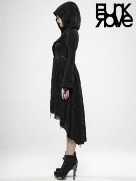 Dark Witch Coat with Hood